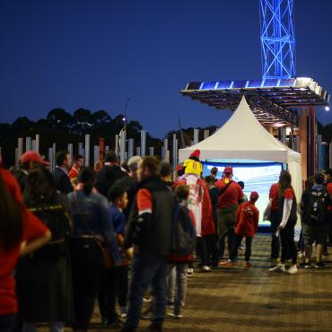 Liverpool FC in Sydney with Alcatel