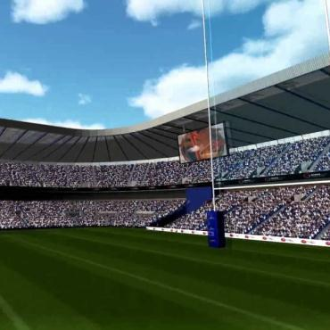Rugby Simulator for Fan Engagement Event