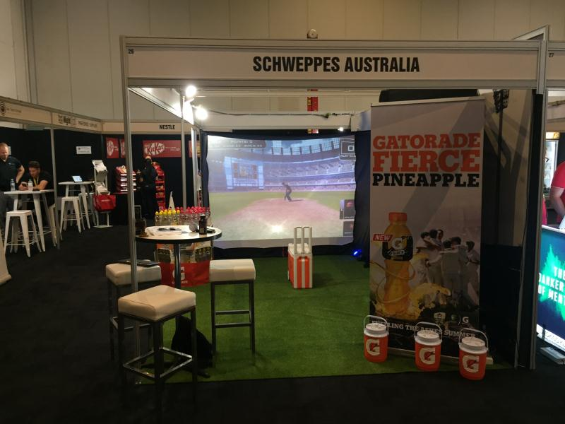 Cricket Simulator with Schweppes Australia