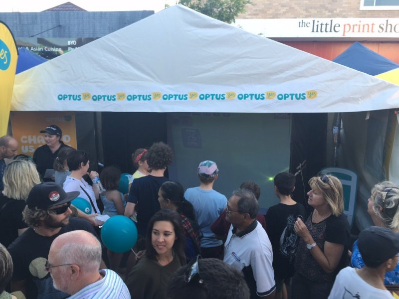 Optus Retail and Perth`s Summer Street Party